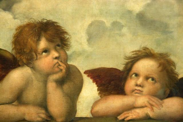 angeles madonna sixtina